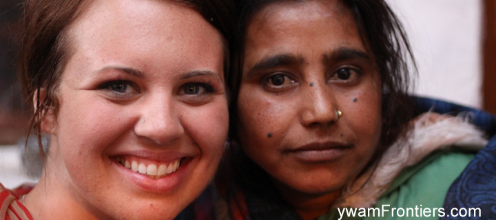 Photo of author Jen and her Indian friend