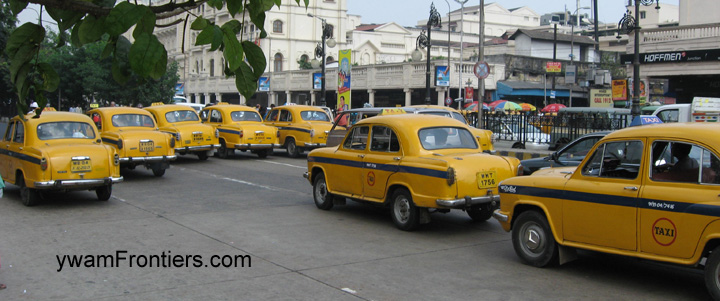 Photo of taxis on the street in India