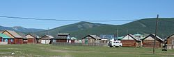 Photo of Zuulun town in the Darkhad Valley of Mongolia
